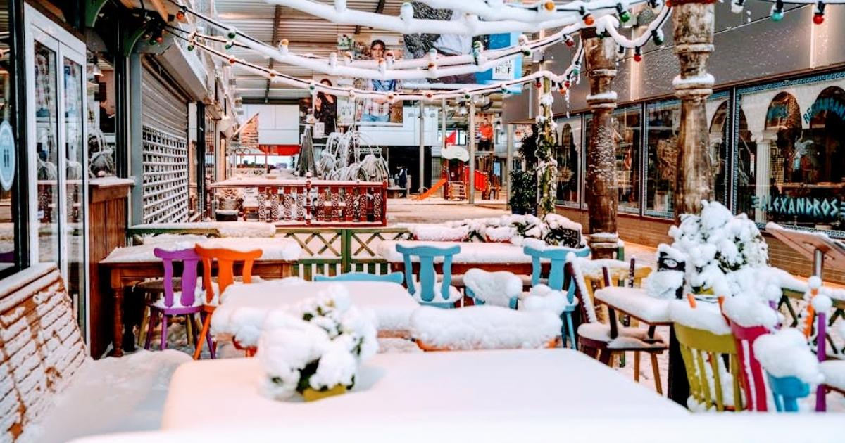 Winterse taferelen in winkelcentrum Amstelveen